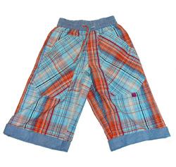 Pantalone in cotone a quadri