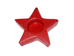 Portacandela in terracotta stella