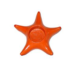 Portacandela in terracotta stella marina