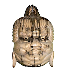 Maschera Legno Sumo Ibiscus