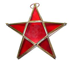 Portacandela stella in vetro