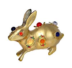 Coniglio in ottone