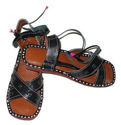 Sandalo fasce incrociate in pelle