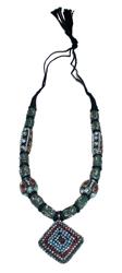 Collana antichizzata pendente rombo