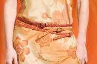 Cintura in yuta a treccina: arancio, giallo, nero, bordeaux