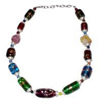 Collana in vetro multicolor