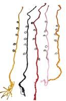 Cavigliera cotone con campanelle in ottone