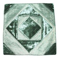 Copricuscino silk saree patchwork con velluto