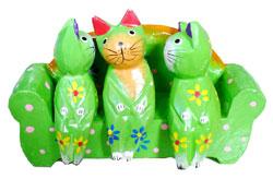 Gatti su Sediolina Color cm. 8