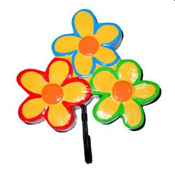 Appendiabito fiori in legno colorato