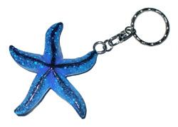 Portachiavi stella marina in legno