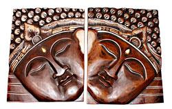 Pannello Faccia Buddha Obliqua cm. 50 x 40
