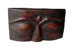 Volto in legno di buddha