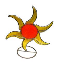 Portacandela Sole in Resina