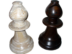 Alfiere scacchi in legno