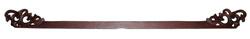 Bastone appenditenda in legno quadrato