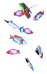 Acchiappasogni colorato pesce piccolo