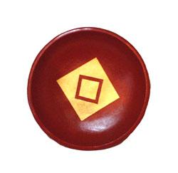 Piatto Terracotta Colorata Quadrati al Centro