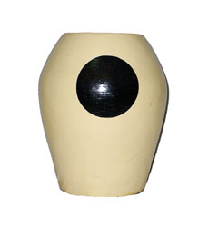 Vaso Terracotta Colorata con Cerchio Centrale cm. 35
