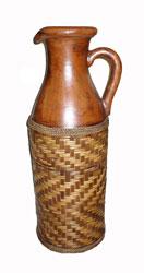 Anfora Terracotta con Rattan