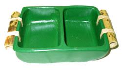 Centrotavola Colorato Rettangolare con Separaz. Set 3 pz.