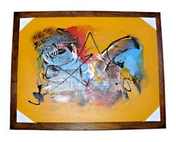 Dipinto su tela applicato su cornice legno
