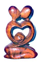 Legno Coppia Cuore in legno