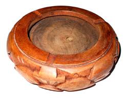 Posacenere intarsiato in legno