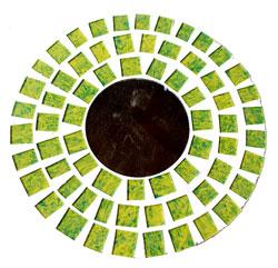 Specchio Mosaico Vetro Tondo cm 50