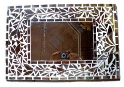 Specchio Mosaico Vetro  cm 80 x 60