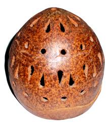 Portacandela in terracotta palla
