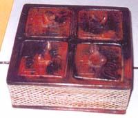 Box terracota con rattan e animali CM20*20