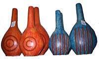 Bottiglie terrac. Colorata disegno circolare Set 3pz