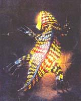 Salamandra in pelle