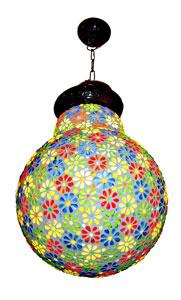 Lamapadario vetro mosaico lampadina