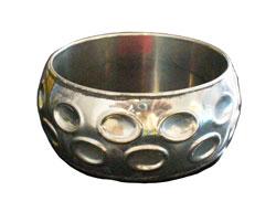 Bracciale in white metal con bolle